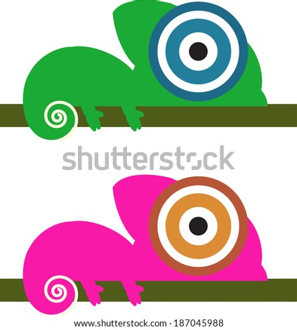 camelions - stock vector