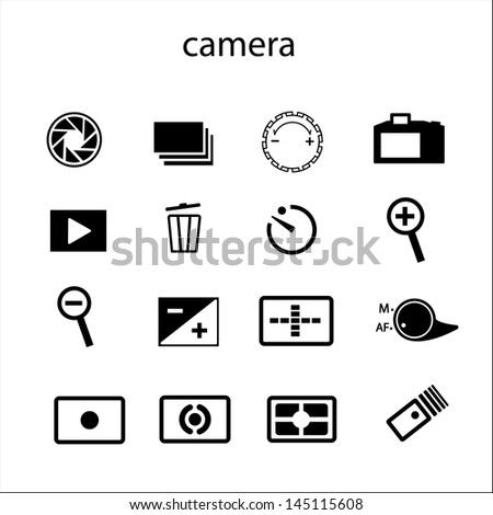 Camera Accessories Icons - stock vector