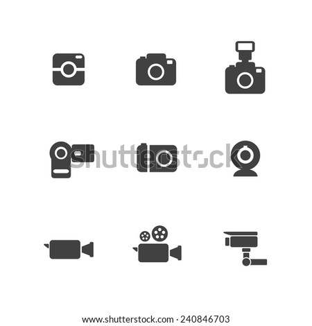 Camera and Video Camera Simple Icons