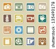 Camera and Video sticker icons set, Illustration - stock photo