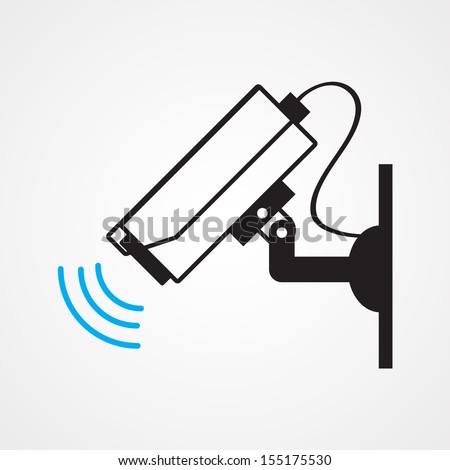 camera cctv ,Illustration eps 10 - stock vector