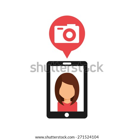 camera concept design, vector illustration eps10 graphic  - stock vector