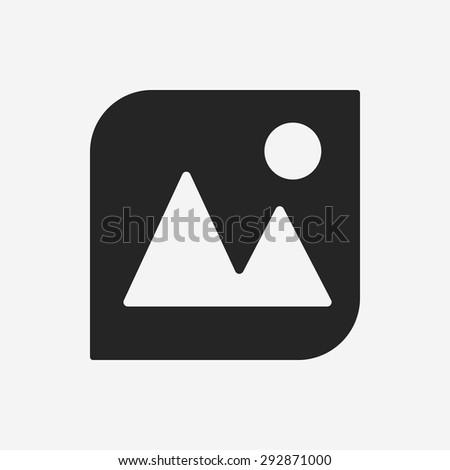 camera depth of field icon - stock vector