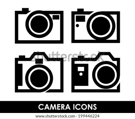 Camera design over white background, vector illustration