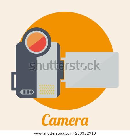 camera design , vector illustration - stock vector