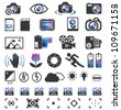 Camera Display Screen symbols - stock photo