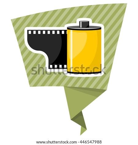 Camera film roll, vector illustration in cartoon style - stock vector