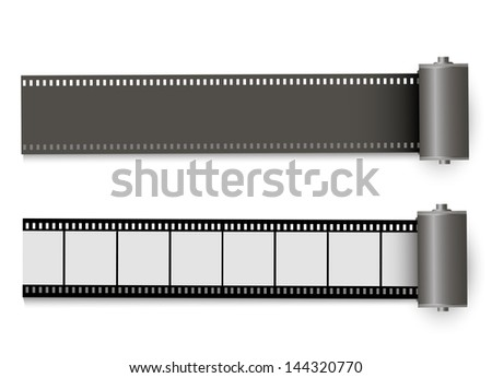 Camera film rolls - stock vector