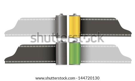 Camera film rolls - stock vector