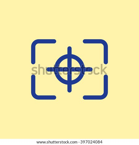 Camera Focus Icon. - stock vector