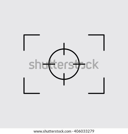 Camera Focus Line Icon Eps10 Stock Vector 406033279 - Shutterstock