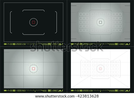 Camera focusing screen - stock vector
