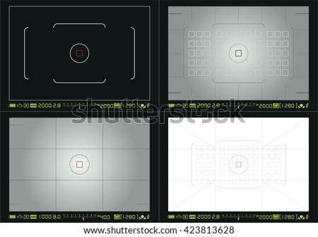 Camera focusing screen - stock vector
