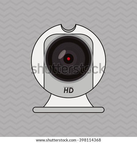 camera icon design, vector illustration