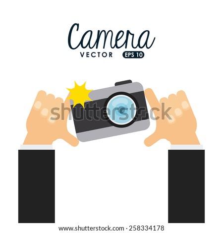 camera icon design, vector illustration eps10 graphic  - stock vector