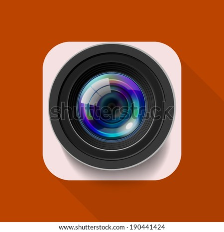 Camera Icon for Mobile - stock vector