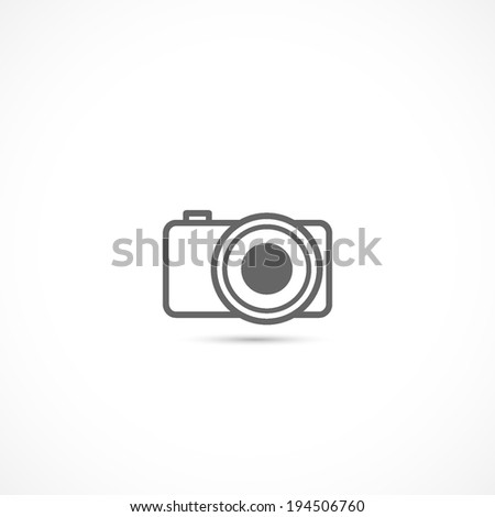 camera icon, isolated on a white background - stock vector