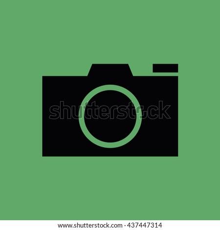 Camera icon vector - stock vector