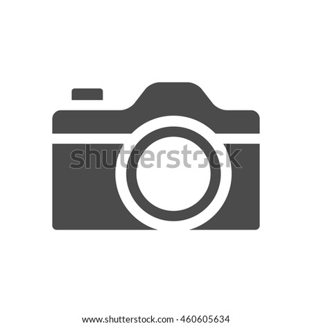 Camera icons in single color. Digital photography snapshot - stock vector