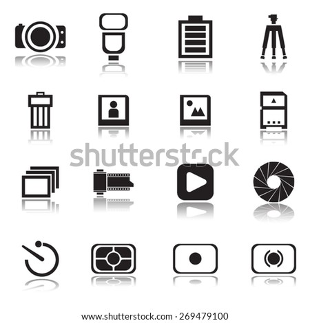 Camera icons , Vector illustration