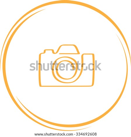 camera. Internet button. Vector icon. - stock vector