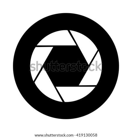 Camera Lens Icon - stock vector