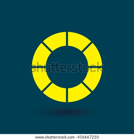 Camera lens icon, vector illustration. Flat design style - stock vector
