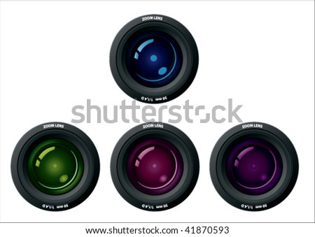 camera lens in diffrent color