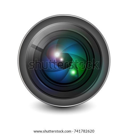 camera lens shutter aperture isolated vector stock vector