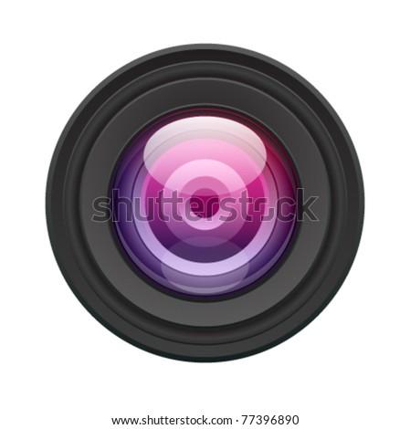 Camera lens vector illustration. Eps 10. - stock vector
