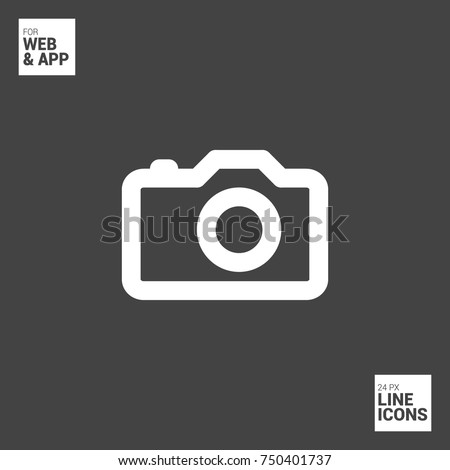 Camera symbol stock images royalty free images vectors for Camera minimal