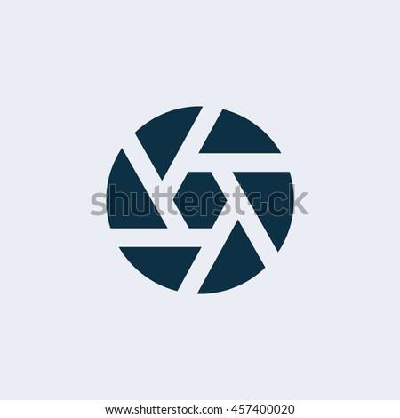 Camera objective icon ,Camera, photo shutter, shutter, video icon  - stock vector