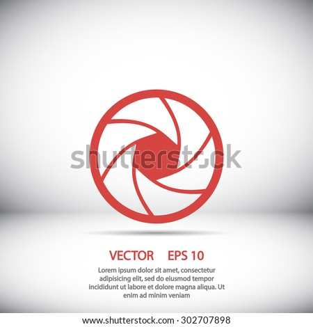Camera objective  icon. One of set web icons - stock vector