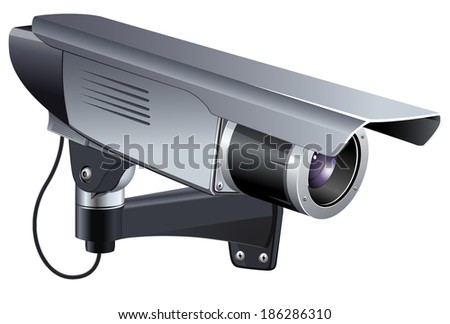 camera of the video observation - stock vector