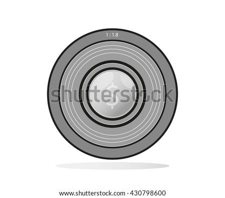 Camera photo lens vector. Camera lens vector illustration  - stock vector