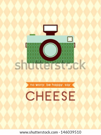 camera poster - stock vector