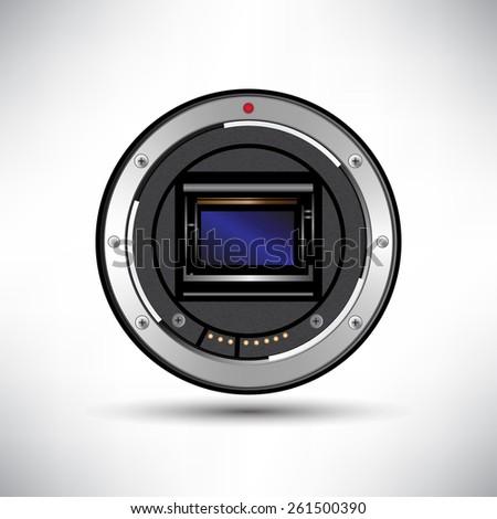 Camera sensor vector - stock vector