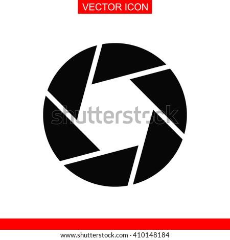 Camera shutter icon. - stock vector