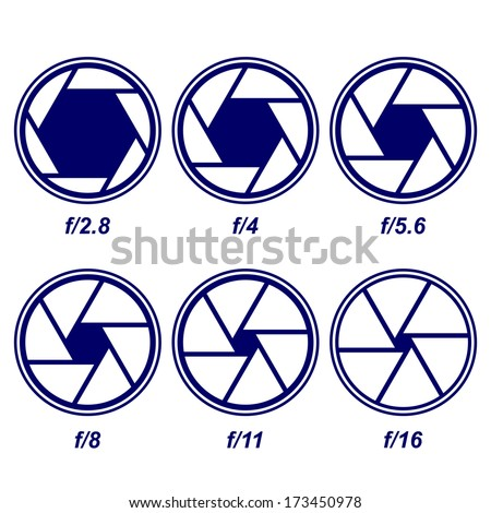 camera shutter symbols vector illustration - stock vector