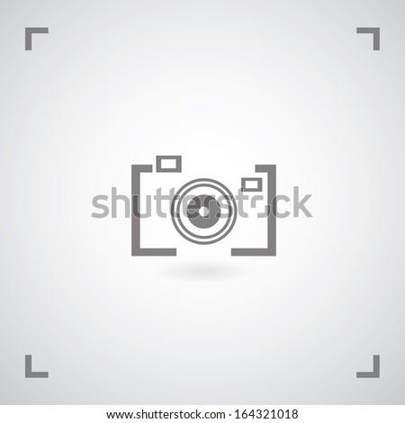 Camera symbol in framework - stock vector