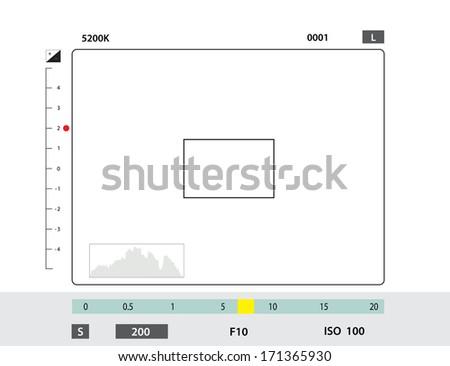 camera viewfinder - stock vector