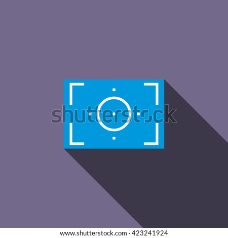 Camera viewfinder icon, flat style - stock vector