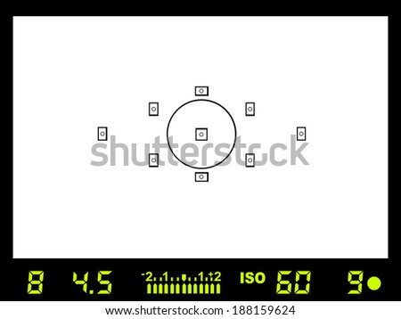 Camera viewfinder - vector - stock vector