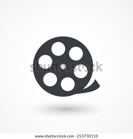 Camera web icon in circle - stock vector