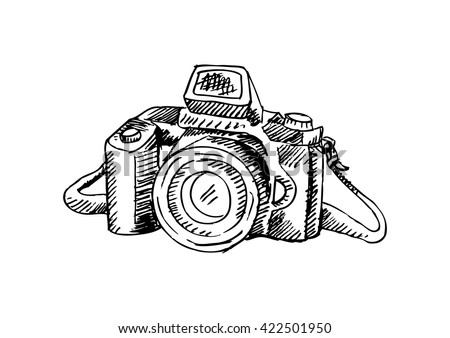 Camera with sketchy style.
