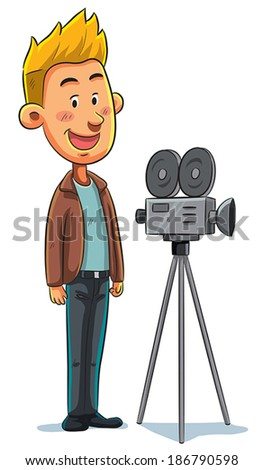 Cameraman  - stock vector