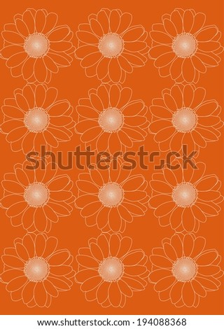 camomile, flower, vector, graphic, drawing, illustration - stock vector