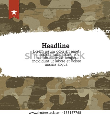 Camouflage background with space for text. Vector, EPS10 - stock vector