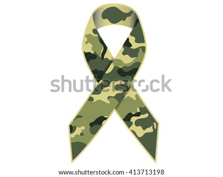Camouflage Military Ribbon.Vector