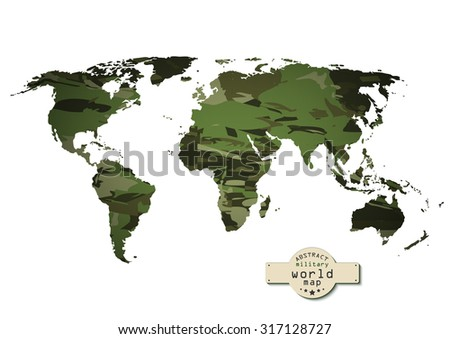Stock images royalty free images vectors shutterstock camouflage military world map vector illustration eps 10 gumiabroncs Choice Image